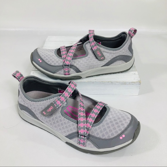 Ryka Shoes | Kailee Grey Pink Mary Jane